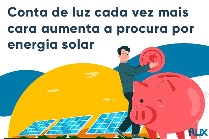 You are currently viewing Com conta de luz cada vez mais cara, aumenta a procura por energia solar